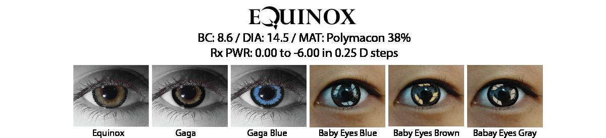 Equinox Cosmetic Contact Lenses